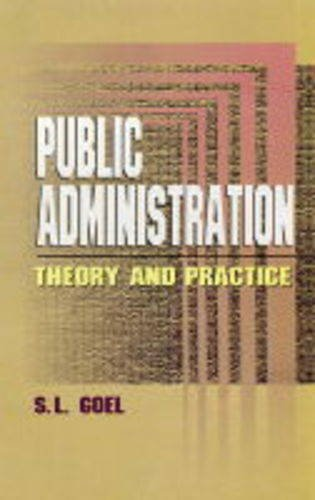 9788176294164: Public Administration: Theory and Practice
