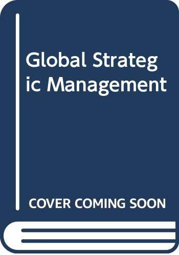9788176296915: Global Strategic Management
