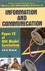 Information and Communication (Vol. 8: Paper IX: P.S.G. Kumar