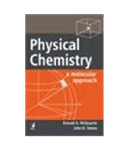 9788176490016: Physical Chemistry: A Molecular Approach