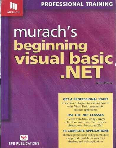 9788176566582: Murach's Beginning Visual Basic .NET