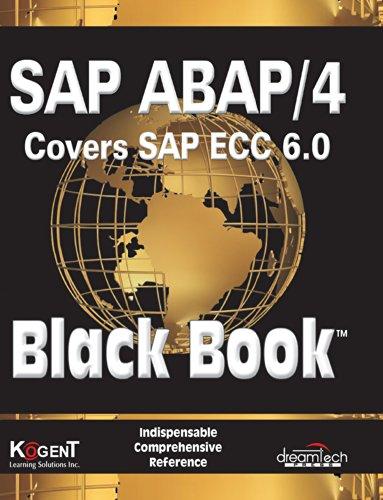 9788177224290: Sap Abap/4, Covers Sap Ecc 6.0, Black Book: 2009 Ed