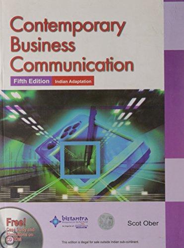 9788177225228: Contemporary Business Communication
