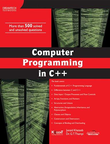 COMPUTER PROGRAMMING IN C++: JUNAID KHATEEB, DR.