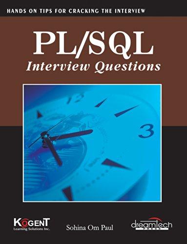 Pl / SQL Interview Questions, 2011ed: Sohina Om Paul