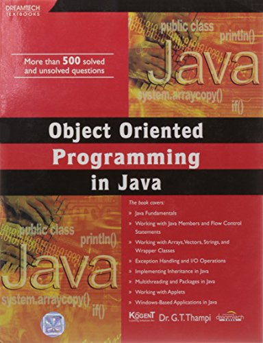 Object Oriented Programming in Java: Dr G.T. Thampi