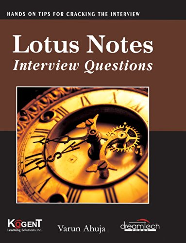 Lotus Notes: Interview Questions: Varun Ahuja