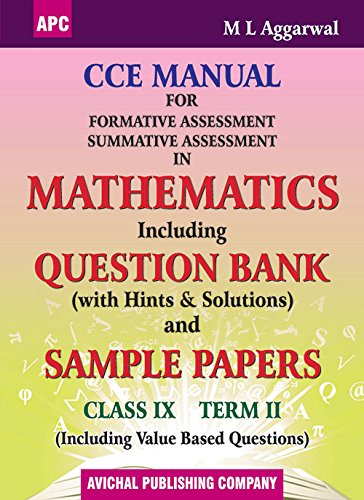 CCE Manual For Formative Assessment Summative Assessment: M.L. Aggarwal