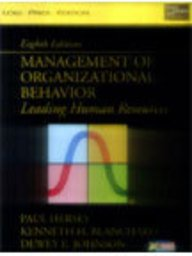 9788177583205: Management of Organisational Behavior: Leading Human Resources (Livre en allemand)