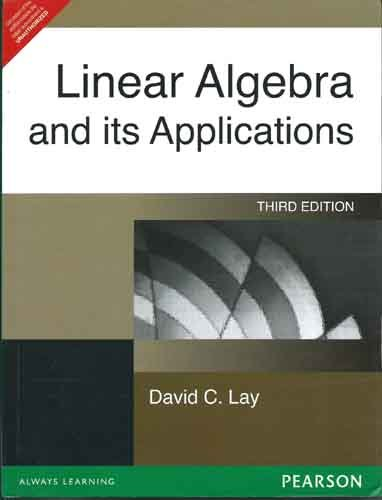 Linear Algebra By David C Lay 3rd Edition Pdf