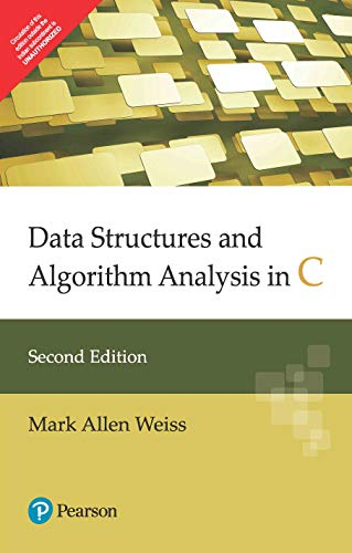 Data Structures And Algorithm Analysis In C,: Weiss,M.A.