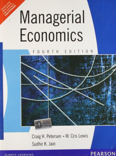 Managerial Economics: Craig H. Petersen,