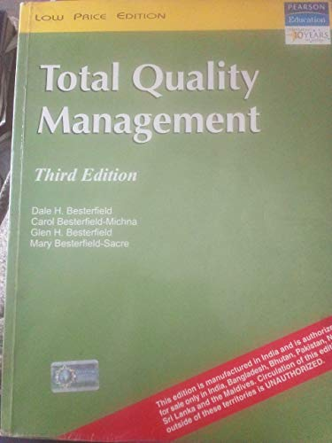 9788177584127: Total Quality Management, 3/e