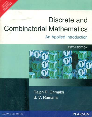 9788177584240: Discrete and Combinatorial Mathematics: An Applied Introduction, 5th