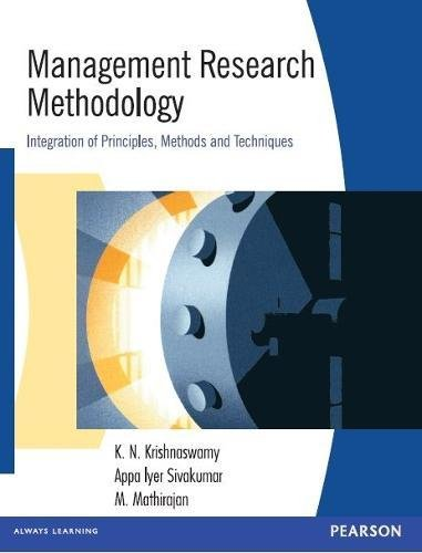 MANAGEMENT RESEARCH METHODOLOGY: K. N. Krishnaswamy