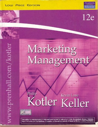Pearson Marketing Management (Low Price Edition) 12e: Philip Kotler, Kevin