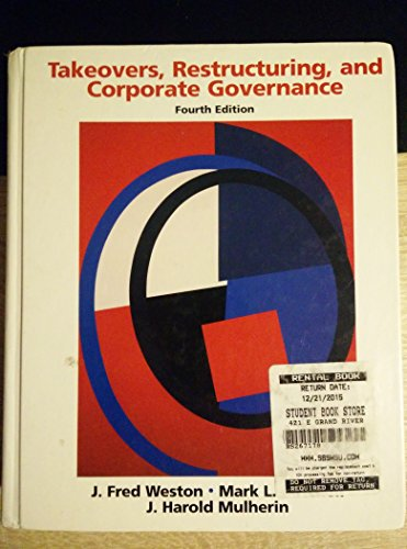 9788177587944: Takeovers, Restructuring, and Corporate Governance, 4/e