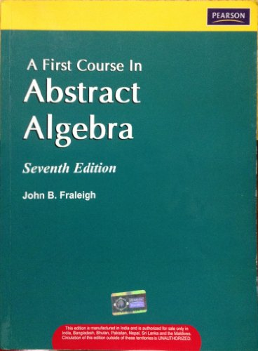 9788177589009: A First Course in Abstract Algebra, 7/e
