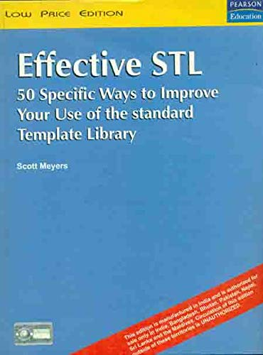 9788177589085: Effective STL: 50 Specific Ways to Improve Your Use of Standard Template Library