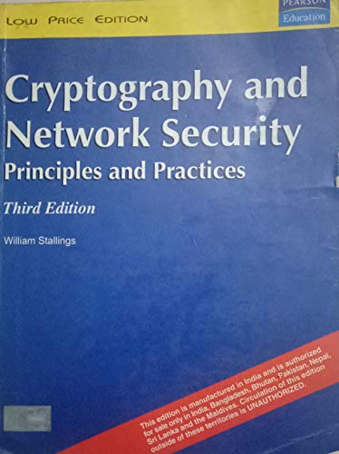 9788178089027: Cryptography and Network Security: Principles and Practice by Stallings, William (2013) Paperback