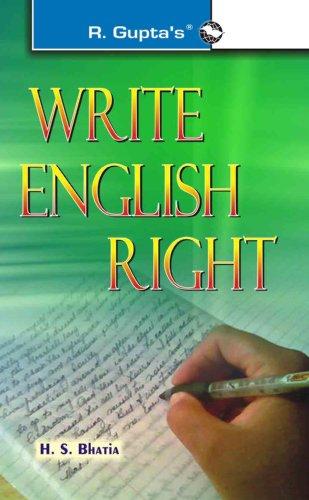 Write English Right: H S Bhatia