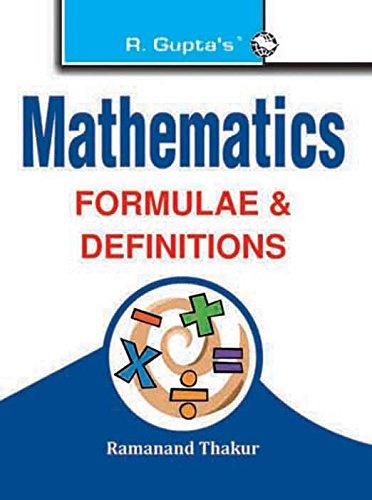 Mathematics Formulae & Definitions: Ramanand Thakur