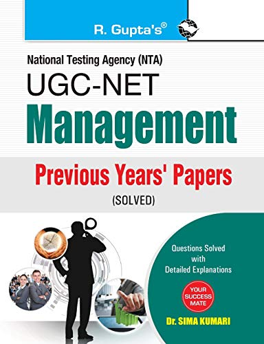 9788178127248: UGC NET Management: Previous Years' Papers (solved): Paper I, II & III