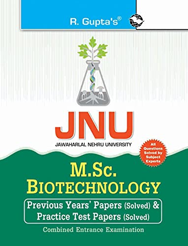 JNU - M.Sc. Biotechnology Combined Entrance Examination: RPH Editorial Board