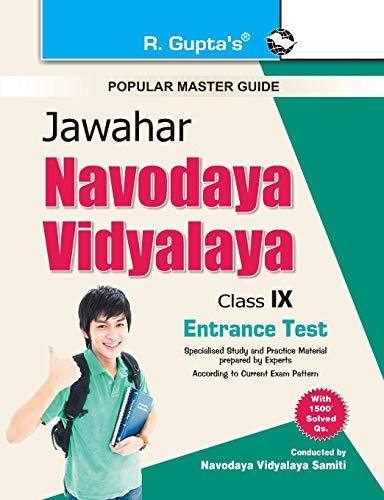 Jawahar Navodaya Vidyalaya Entrance Exam Guide for Class IX: RPH Editorial Board