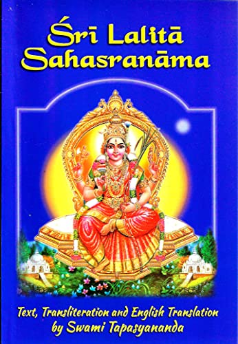 Sri Lalita Sahasranama: The Text, Transliteration and English Translation (English and Hindi ...