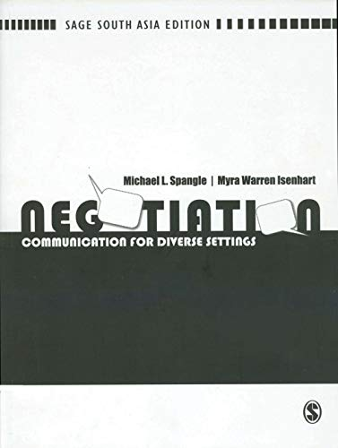 9788178298894: NEGOTIATION: COMMUNICATION FOR DIVERSE SETTINGS