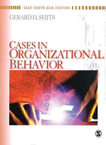 9788178299143: Cases in Organizational Behavior