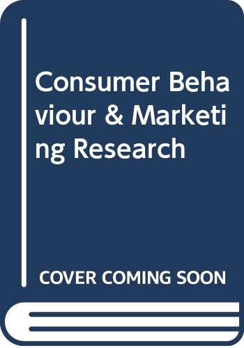 CONSUMER BEHAVIOUR AND MARKETING RESEARCH: Suja R. Nair