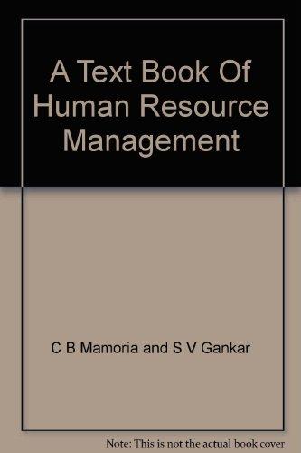 9788178669953: A Text Book Of Human Resource Management