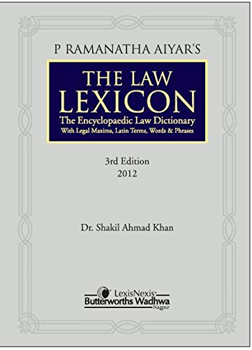 9788180387494: P Ramanatha Aiyars The Law Lexicon