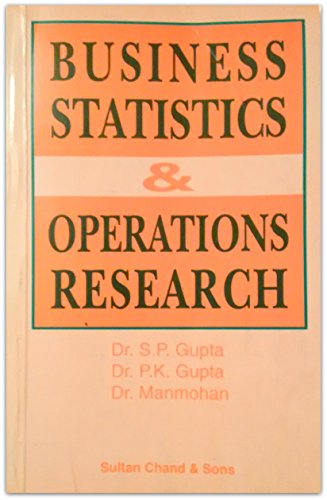 9788180543661: Business Statistics and Operations Research: For Business Communications Students of Madras University and Other Universities Having Similar Courses