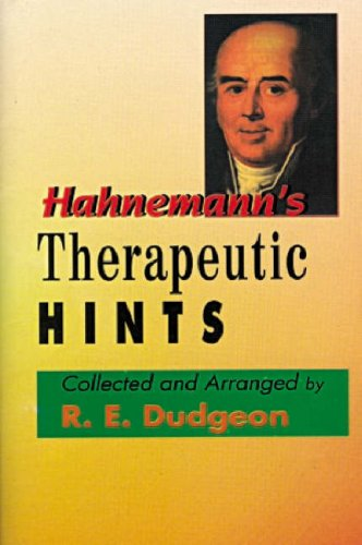 9788180562822: Hahnemann's Therapeutic Hints