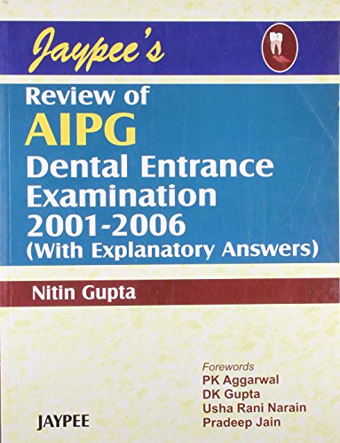 Jaypee`s Review of AIPG Dental Entrance Examination: Nitin Gupta (Author),