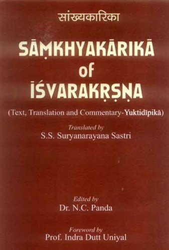 9788180902000: Samkhyakarika of Isvarakrsna (text, Translation and Commentary - Yuktidipika)