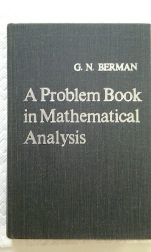 9788181160171: A problem book in mathematical analysis
