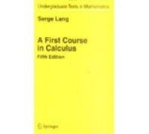9788181282408: A First Course in Calculus, 5e