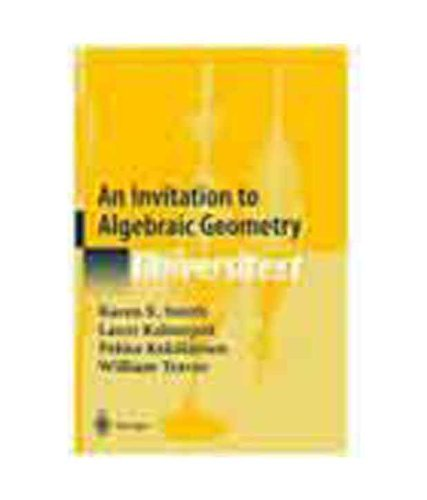 9788181282651: An Invitation to Algebraic Geometry