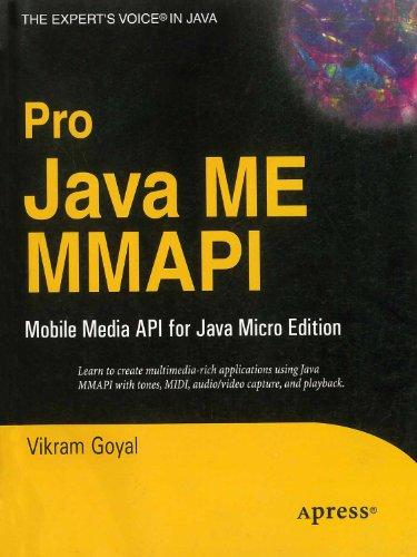 9788181284471: Pro Java ME MMAPI: Mobile Media API for Java Micro Edition [Paperback]