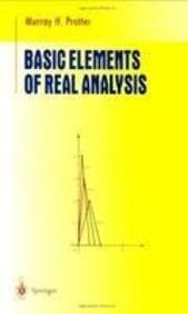 9788181284525: Basic Elements of Real Analysis