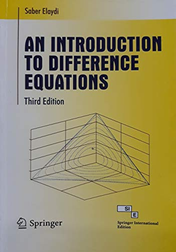 AN INTRODUCTION TO DIFFERENCE EQUATIONS 3ED: ELAYDI