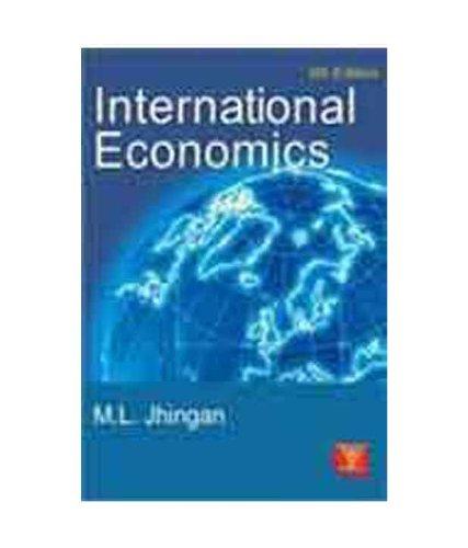 International Economics (Sixth Edition): M.L. Jhingan