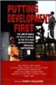 Putting Development First: The Importance of Polciy: Alice Amsden, Amit