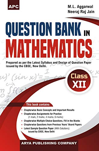 Question Bank in Mathematics (Including CBSE Examination: M.L. Aggarwal, Neeraj