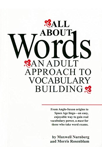 9788183070744: All about Words ; An Adult Approach to Vocabulary Building