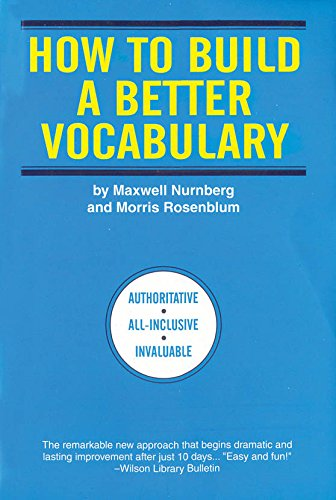 9788183070775: How to Build a Better Vocabulary